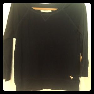 Abercrombie and Fitch L soft navy sweatshirt.